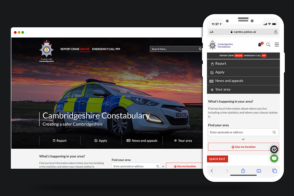cambs police website