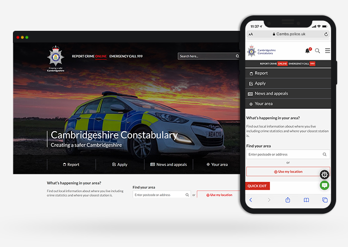 Cambs police web design