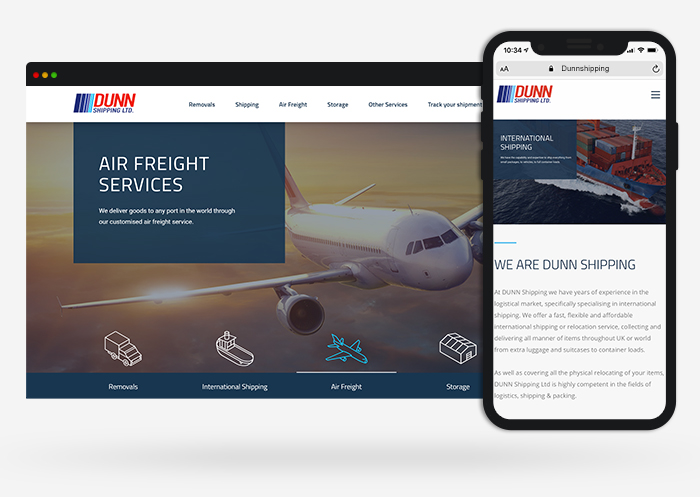 dunn shipping web design
