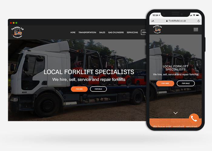forklifts ltd web design