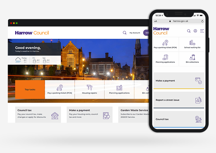Harrow council web design