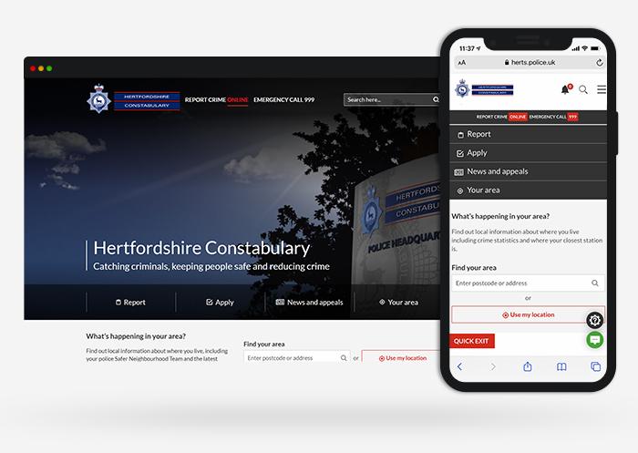 Herts police web design