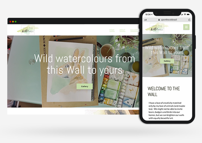 upon the wild wall web design